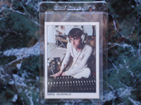 Mike Oldfield Card (the rock and pop collection).