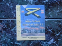 Ticket The World Premiere of Tubular Bells 3 (London 4-9-1998).